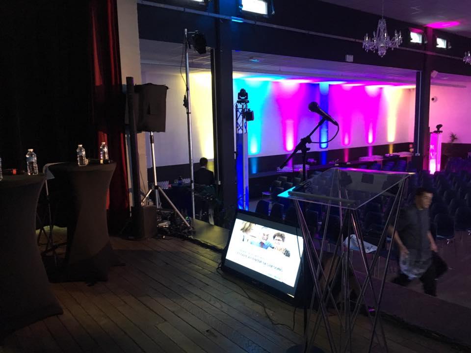 Sonorisation et mise en lumière d'événements professionnels